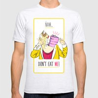 Don't Eat Me! Mens Fitted Tee Ash Grey SMALL