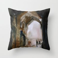 Under the Ali Qapu palace Throw Pillow