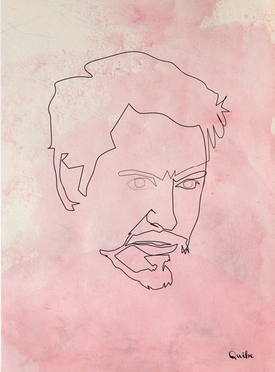 One line Tony Stark Art Print
