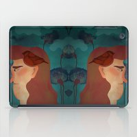 lady with bird iPad Case