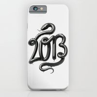 iPhone & iPod Case featuring 2013 - Year of the Black Water Snake by David McLeod