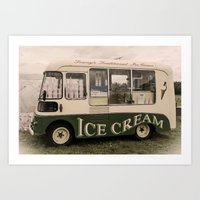 Scream For Vintage Ice Cream Art Print