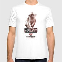 Save Golden Monkeys Mens Fitted Tee White SMALL