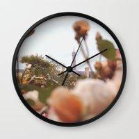 Flowers grow in Paris Wall Clock