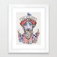 King Of The Seas Framed Art Print