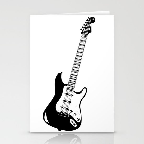 Guitar Stationery Card