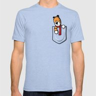 Pocket Pal Mens Fitted Tee Tri-Blue SMALL