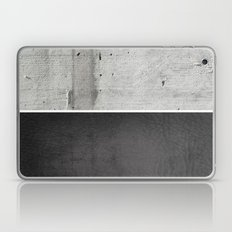 Raw Concrete And Black L… Laptop & iPad Skin