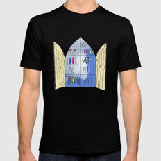 Life of a Window Mens Fitted Tee SMALL Black
