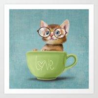 Mr. Micio Miao - Kitten … Art Print