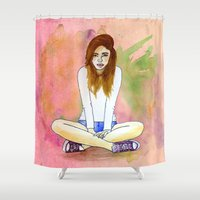 Mood today Shower Curtain