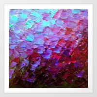 MERMAID SCALES - Colorfu… Art Print
