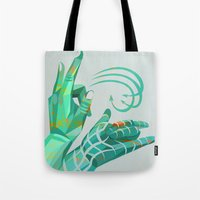 hand-shape aesthetic Tote Bag