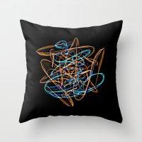 Silkweave / Neon Sigil 0 Throw Pillow