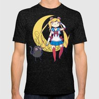 Adventure Moon Mens Fitted Tee Tri-Black SMALL