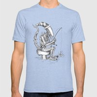 Alien Gnome Mens Fitted Tee Tri-Blue SMALL