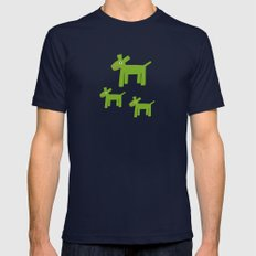 Dogs-Green Mens Fitted Tee Navy SMALL