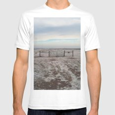 Snowy Gate Mens Fitted Tee SMALL White