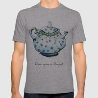 Once Upon A Teapot Mens Fitted Tee Athletic Grey SMALL