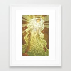 Lady of Light II Framed Art Print