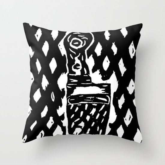 What a sexy knife! Throw Pillow