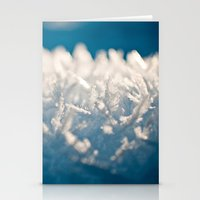 Mountain Snow Macro Stationery Cards