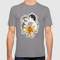 Love is like a Flower... Mens Fitted Tee Tri-Grey SMALL