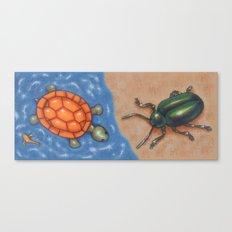 Turtle and Beetle Mug Canvas Print