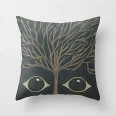 Who's There? Throw Pillow