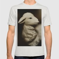 Tom Feiler Lamb Mens Fitted Tee Silver SMALL