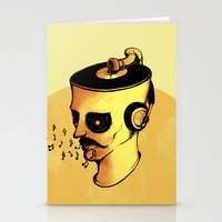 Record Player - ANALOG Z… Stationery Cards