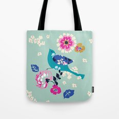 Birds and Blooms 3 Tote Bag
