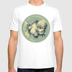 Bubble Head Fish Mens Fitted Tee SMALL White