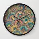 Millefiori Mandala Wall Clock