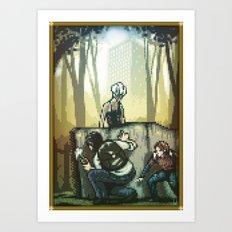Pixel Art series 12 : In silence Art Print