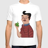 An Apple A Day Mens Fitted Tee White SMALL
