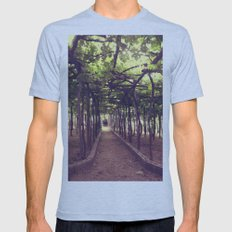 Lemon Grove in Ravello, Italy Mens Fitted Tee Athletic Blue SMALL