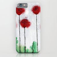 Red Wildflowers iPhone 6 Slim Case