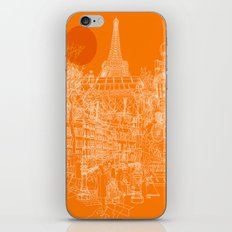 Paris! Orange Sun iPhone & iPod Skin