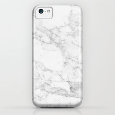 Marble white and grey iPhone 5c Slim Case