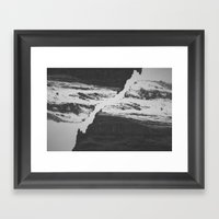 Double Mountain Framed Art Print