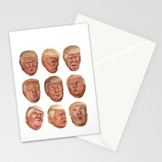 Faces Of Donald Trump Stationery Cards