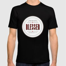 Blessed Mens Fitted Tee Black SMALL