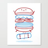 Street Burger  Canvas Print