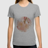 Cherry Bokeh Womens Fitted Tee Athletic Grey SMALL