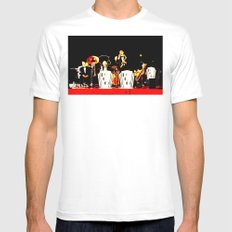 Cotton Club Crooners White SMALL Mens Fitted Tee