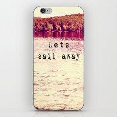 Lets Sail Away iPhone & iPod Skin