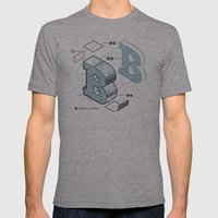 The Exploded Alphabet / B Mens Fitted Tee Athletic Grey SMALL