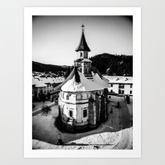 The Katholikon at Putna Monastery, Romania Art Print