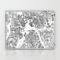 Laptop & iPad Skin featuring Moscow Schwarzplan by City Map Art
